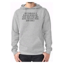 New Arrival Letter Pattern Long Sleeve Loose Casual Cotton Gray Hoodie