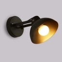 Concise Modern Dome Sconce Light Metal 1 Light Wall Mount Light in Black for Foyer