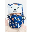 Winter's Warm Windproof Cute Cartoon Bear Printed Lei Feng Hat with Full Face Mask