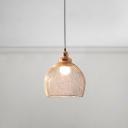 Copper Mesh Cage Pendant Light Vintage Stylish Metallic Single Light Art Deco Suspended Light