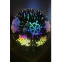 Magic Hot Fashion 3D Snowflake USB Charging Night Lamp