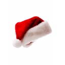 Red Christmas Series Santa Claus Knit Hat with Rolled Cuff