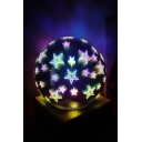 Black USB Charging LED Light 3D Glass Dome Star Night Lamp