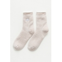 Thick Letter SWEET Printed Warm Woolen Calf High Socks