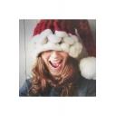 Unique Christmas Santa Claus Braid Hat with Pom Pom