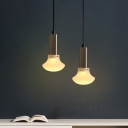 Champagne Gold/Black Finish Mushroom Suspension Light Post Modern Style Single Head Pendant Lamp
