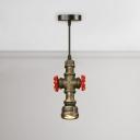 1 Light Water Pipe Suspension Light Industrial Steel Down Light for Restaurant Bar Counter