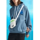 Men's Long Sleeve Letter MDLR Patched Loose Stylish Thick Hoodie