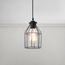 Industrial Bottle Shape Cord Pendant Lamp Steel Suspended Light with Metal Frame