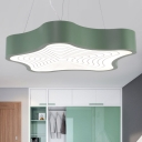 Star LED Pendant Lighting Macaroon Style Metal 1 Light Hanging Ceiling Light for Kids Room