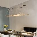 Tube LED Pendant Lighting Post Modern Glass 1-LED Drop Light in Gold Finish for Bar Cafe Restaurant