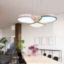 Multi Color Shell LED Chandelier Nordic Macaroon Acrylic Shade 3 Light Chandeliers for Kids Bedroom