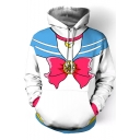 White Sailor Moon Cosplay Costume Long Sleeve Loose Hoodie