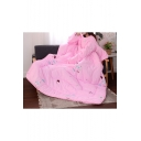 Lazy Wearable Quilt with Sleeves Umbrella Printed Plush Sofa Blanket 180*220CM
