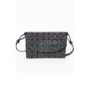 Purple Geometric Adjustable Straps Envelope Fashion Purple Shoulder Bag