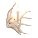 Resin Antler Shape Wall Light Designers Style Decorative LED Wall Sconce for Staircase