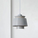 2 Shades Hanging Light Modern Fashion Metal Drop Light for Exhibition Hall Corridor