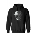 Fashion American TV Heisenberg Figure Letter Pattern Long Sleeve Pullover Basic Hoodie