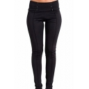 Women's Hot Popular Button-Embellished Waist Stretch Skinny Fit Pants