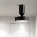 Round Flush Light Fixtures Simplicity Modern Metal 1 Light Decorative Ceiling Light in Black