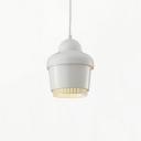 Single Head Bell Pendant Light Modern Design Steel Drop Ceiling Lighting in White