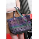 Hot Fashion Luminous Stylish Convertible Purple Tote Bag