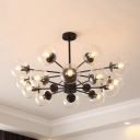 Large Ball Shape Chandelier Light Post Modern Metal Multi Light Decorative Hanging Light
