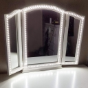 Slim LED Ribbon Light USB Charger Vanity Light in White Light for Dressing Table