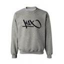 Men's Basic Crew Neck Long Sleeve Fashion Print Pullover Relaxed Sweatshirt
