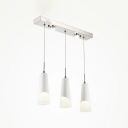 Modern Concise Linear Pendant Lamp Acrylic 3 Light Drop Light for Kitchen Bedroom
