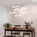Seagull Shape Cluster Pendant Light Modern Simple Acrylic Multi Light Lighting Fixture