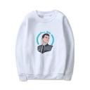 Popular Game DETROIT Figure Printed Round Neck Long Sleeve Casual Loose Sweatshirt