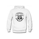 New Stylish Popular Letter HOGWARTS Harry Potter University Logo Print Relaxed Fit Hoodie
