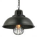 13'' Wide Industrial Style Pendant Lighting with Cage