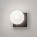 Milky Glass Modo Sconce Lighting Contemporary 1 Bulb Wall Mount Light for Bedside