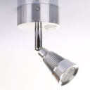 1 Light Cone Shape Mini Spot Light Contemporary Rotatable Acrylic LED Wall Lighting in Chrome