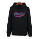 Popular Letter MR UNIVERSE Graphic Printed Long Sleeve Warm Thick Pullover Hoodie for Men