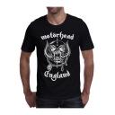 Men's Stylish Letter Monster Graphic Printed Crewneck Cotton T-Shirt