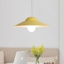 Hat Shade Hanging Lamp Colorful Modern Metal 1 Head Ceiling Pendant Light for Kids