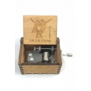 6.4*5.2*4.1cm Fancy Letter LA LA LAND Figure Carved Vintage Hand Cranked Music Box