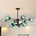 Post Modern Bubble Ceiling Light Metal Multi Light Art Deco Chandelier for Bedroom Bar