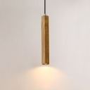 Slim Tube Hanging Light Contemporary Concrete Ceiling Pendant Light for Bar Restaurant