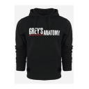 New Trendy Letter GREY'S ANATOMY Pattern Men's Casual Long Sleeve Relaxed Hoodie
