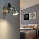 Chrome Rotatable Arm LED Wall Sconce Simplicity Metallic Single Head Reading Light