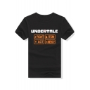 Funny Letter UNDERTALE FIGHT ITEM ACT MERCY Round Neck Casual Graphic T-Shirt