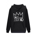 Cool Crown Letter JUGHEAD Printed Long Sleeve Men's Fitted Graphic Hoodie
