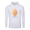#Egggang Egg Gang World Record Egg Men's Long Sleeve Fitted White Hoodie