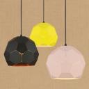 Football Suspended Light Colorful Modern Metal 1 Head LED Hanging Lamp for Children Room
