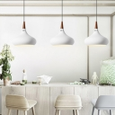 White Finish Spinning Drop Light Nordic Style Modern Metal 1 Bulb Ceiling Pendant Light