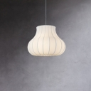 Fabric Pear Shade Hanging Light Contemporary 1 Head Suspended Lamp for Living Room